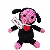 Knit Knacks Baabaa Lamb Organic Cotton Small Dog Toy