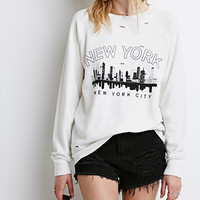New York Distressed Sweatshirt