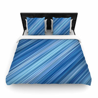 """Bruce Stanfield """"Ambient #1"""" Teal Digital Woven Duvet Cover"""