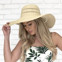 Straw Floppy Beach Hat In Natural