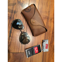 Ray Ban Aviator Silver Sunglasses