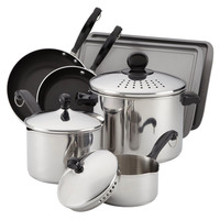 Farberware Classic 10-Piece Cook and Strain Cookware Set