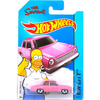 Hot Sale Hot Wheels Simpsons Family Pink Car Models Metal Diecast Car Collection Kids Toys Vehicle For Children Juguetes