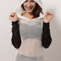 Panda Hooded Knit Top