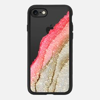 FLAWLESS CORAL & FAUX GOLD by Monika Strigel iPhone 6 iPhone 7 Hülle by Monika Strigel | Casetify