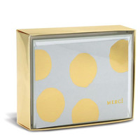 Merci Gold Dots Sweet Folded Notes