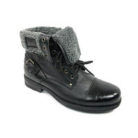 Polar Fox Mens 506015 Faux Fur Lined Winter Lace Up Boots