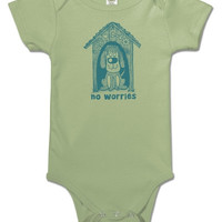 NEW! No Worries Organic Baby Onsie Bodysuit -3 Sizes Available