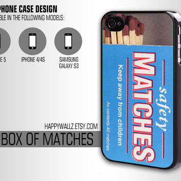 Iphone Case Iphone 4 case Hipster Cool Box of Matches Iphone 5 case Iphone 4s case Samsung Galaxy S3 Case