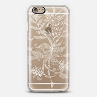 white flower iPhone 6 case by Marianna Tankelevich | Casetify