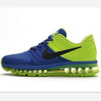 NIKE trend of plastic bottom casual shoes breathable running shoes Sapphire blue green