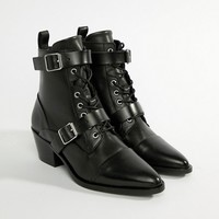 AllSaints Lucie buckle boot at asos.com
