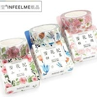 Infeel.me flower & plant paper masking Tape Decoration stationery Tape