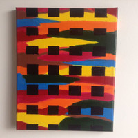 canvas abstract acrylic painting