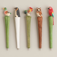 Wooden Bird Pens, Set of 5 - World Market