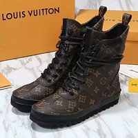 Louis Vuitton Women Fashion Casual Flats Shoes Boots Shoes