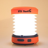 ThorFire LED Camping Lantern Hand Crank USB Rechargeable Mini Flashlight Torch Light Tent Lamp CL01 for Camping Hiking Jogging