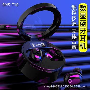 Quick Charge Drive Wireless Bluetooth Headset Movement Anti-Perspiration In-Ear Power Tuning Screen Touch 5.0