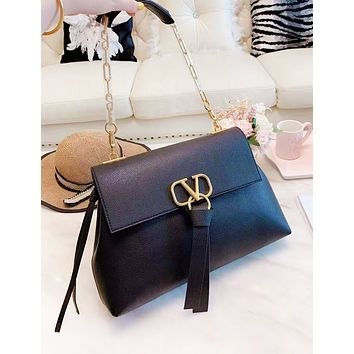 Valentino New fashion leather high quality chain high quality shoulder bag women Brown