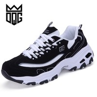 DQG Men Running Shoes Unisex Outdoor Sneakers Breathable Mesh Athletic Shoes Lightweight Training Shoes Couples Sport Shoes