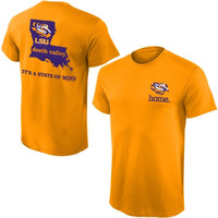LSU Tigers State of Mind T-Shirt – Gold