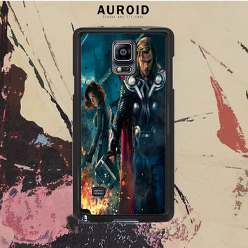 The Avengers - Black Widow And Thor Samsung Galaxy Note 3 Case Auroid
