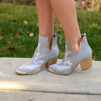Born For This Booties- Light Grey
