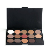 New fashion 15 Earth Color Matte Pigment Eyeshadow Palette Cosmetic Makeup Eye Shadow for women