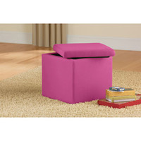 Walmart: Mainstays Faux Suede Ultra Storage Ottoman, Multiple Colors