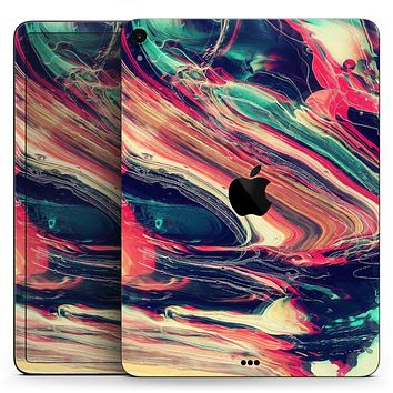"Liquid Abstract Paint Remix V10 - Full Body Skin Decal for the Apple iPad Pro 12.9"", 11"", 10.5"", 9.7"", Air or Mini (All Models Available)"