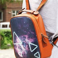 Fashion Punk Style Triangle Backpack