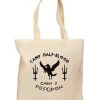 Cabin 3 Poseidon Camp Half Blood Grocery Tote Bag