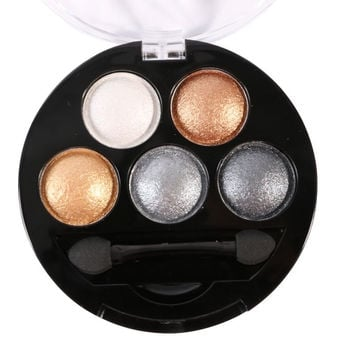 5 Colors Professional Eyes Makeup Pigment Eyeshadow Eye Shadow Palette Beauty Cosmetics TIML66