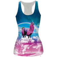 Womens Unicorn Slim Tank Top Sports Vest for Summer Free Shipping
