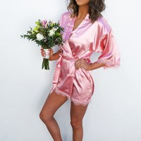 Maid Of Honor Robe: Rose Pink