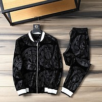 Versace new color matching letter printing sports suit two-piece 062239