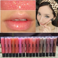 Brand  9 Colors Diamond Sand Gold Liquid Lipsticks Nude Makeup Batom Matte Lipstick Moisturizer Nutritious Lip Gloss