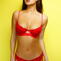 Sweet Escape Lace Bra - Red