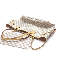 EVE +D4:D49Toile Damier Neverfull GM Tote bag Shoulder Large N41357 N51106