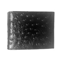 Leather Impressions Ostrich Belly Print Leather Wallet