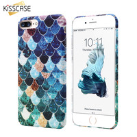KISSCASE Cute Phone Case For iPhone 6 6S 7 Plus 5 5s Mermaid 3D Fish Scale Cover For Samsung S8 S7 S8 Plus S7 Edge A3 A5 2017