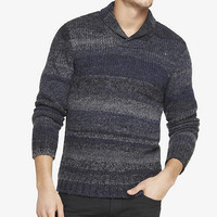 WOOL BLEND SHAWL COLLAR OVERSIZED SWEATER from EXPRESS
