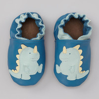 Blue Baby Dino Booties