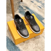 lv louis vuitton men fashion boots fashionable casual leather breathable sneakers running shoes 786