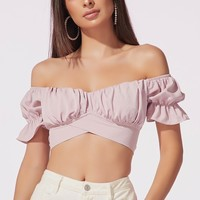 Walk in the Park Puff Sleeve Crop Top