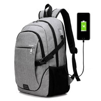 New Fashion High Quality Men Backpacks genuine Travel Bags USB line Backpack men Korean Style laptop Bag Solid couple backpacks