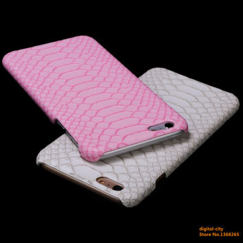 Phone Case For iPhone 6 6s 6plus 6s plus 7 7Plus 5 5S SE case coque Snake Skin Flip PU Leather Hard Shell Protect Back Cover