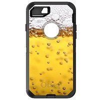 DistinctInk™ OtterBox Defender Series Case for Apple iPhone / Samsung Galaxy / Google Pixel - Beer Glass Foam Bubbles