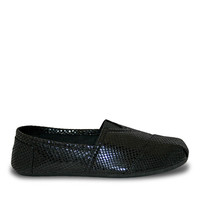 Women's Kaymann Exotic Loafers - Black Snake Print (Special Offer)