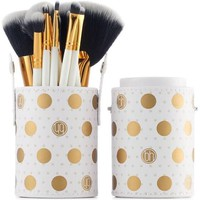 BH Cosmetics Dot Collection Makeup Brush Set, White